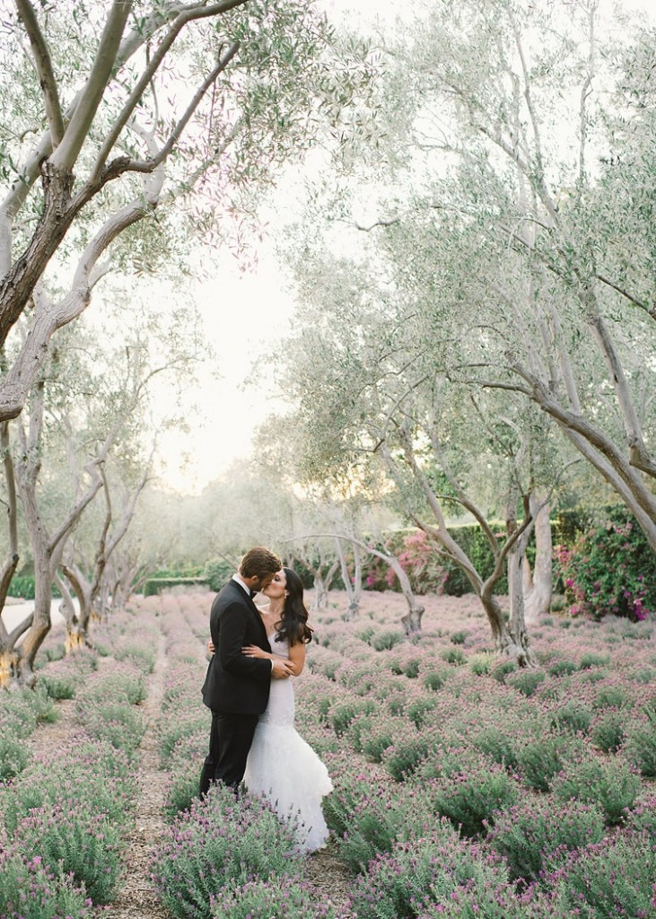 lavender and lilac inspired california wedding via once wed