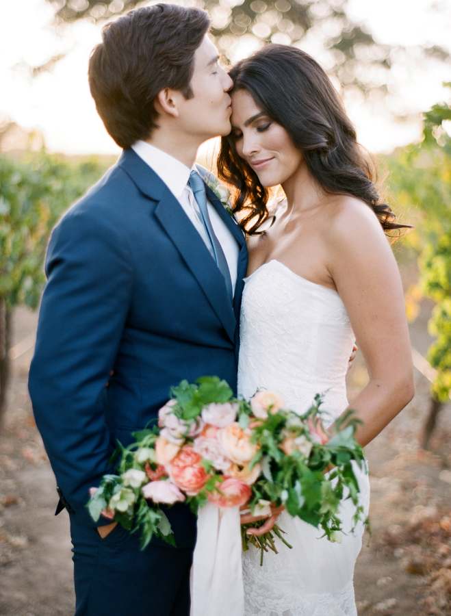 Sun and sky Fall wedding palette featured on Style Me Pretty