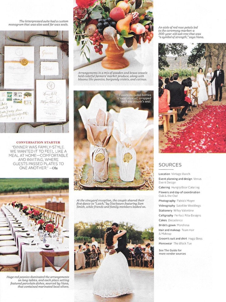 martha stweart weddings feature / the style issue