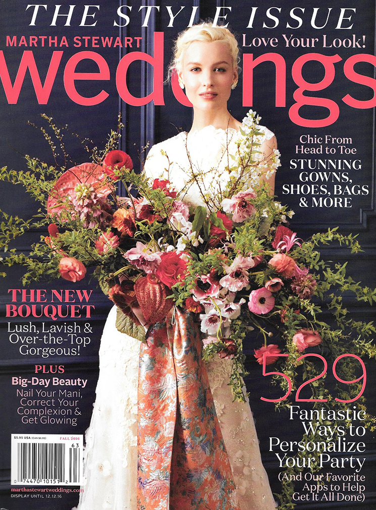 martha stewart weddings magazine feature
